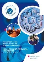 Junior Research Fellowship Testimonials - Pelorous