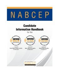 Applications for all NABCEP Certifications are available at