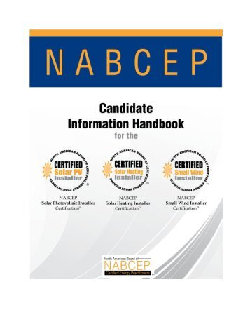 solar pv installer certification application form - nabcep