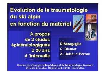 evol trauma ski D. Saragaglia - Service de Rhumatologie