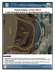 Tower Island- AVAILABLE 1200 Deeded Acres in the Mississippi River