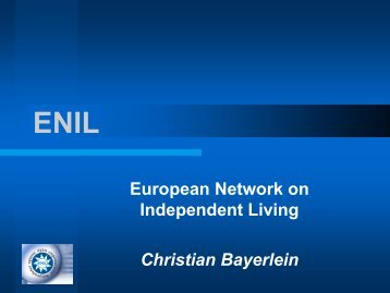 European Network on Independent Living Christian ... - Apeirons