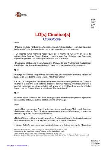 LO[s] Cinético[s] Cronología - Aula de Bellas Artes