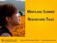 Download - Undergraduate Research - University of Maryland