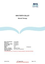 Steroid Therapy - NHS Forth Valley