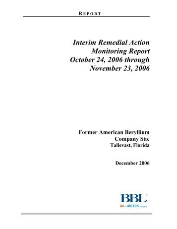 Interim Remedial Action Monitoring Report ... - Lockheed Martin