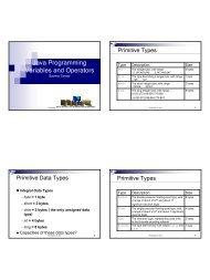 Data Types, Operators (incl  Boolean ops) - seanho