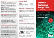 Technical Conference Europe 2013 - June 18-19 ... - PDF Association