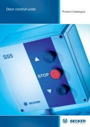 Order form door control units - Becker-Antriebe