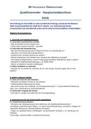 Qualifizierender Hauptschulabschluss Ethik