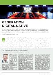 GENERATION DIGITAL NATIVE - SPONSORs Sports Media Summit