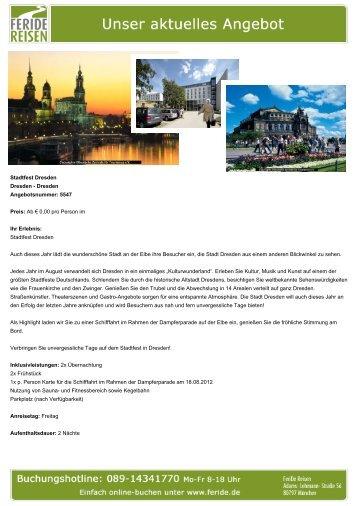 Stadtfest Dresden - Eventreisen - Trierischer Volksfreund