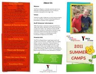 summer day camp brochure - YMCA of Regina
