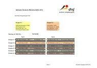offizieller Spielplan DM 2012 - TV Waldgirmes