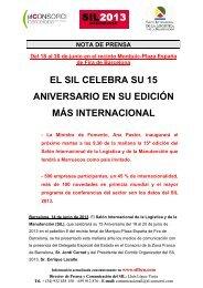 14/06/2013 El SIL celebra su 15 Aniversario en su edición más ...