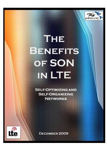 SON in lTE - 4G Americas