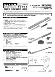 important please read these instructions carefully. note ... - CCW-Tools