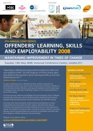 offenders' LearninG, skiLLs and eMPLoYaBiLitY 2008 - Working Links