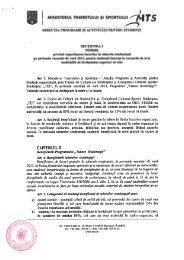 Metodologia de acordare a taberelor studenţeşti - CIOCP