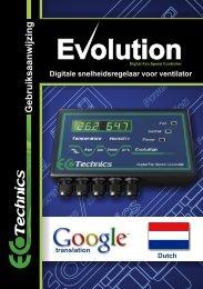 Gebruiksaanwijzing - Ecotechnics