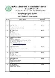 Social Medicine - Pravara Institute of Medical Sciences