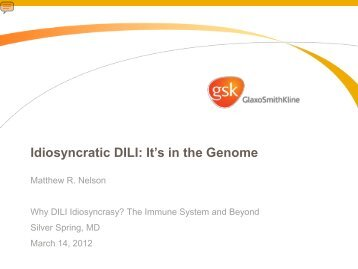 Idiosyncratic DILI: It's in the Genome - AASLD