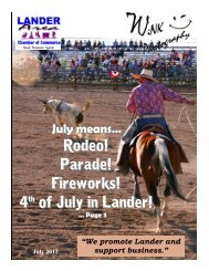 Rodeo! Parade! Fireworks! 4th of July in Lander! - Lander Chamber ...