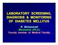 laboratory screening laboratory screening, diagnosis & monitoring of ...