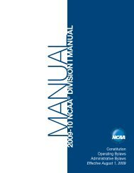2009-10 ncaa division i manual - George Mason University Athletics