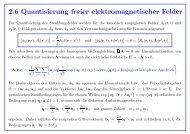 2.6 Quantisierung freier elektromagnetischer Felder