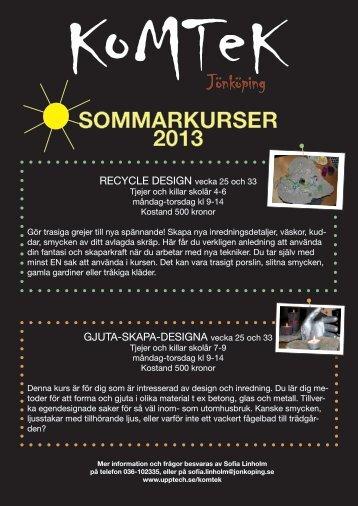 SOMMARKURSER 2013 - Skola.jonkoping.se - Jönköpings kommun 99a63c0386a76