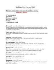 Knižní novinky v dubnu 2010 - Městská knihovna Rychvald