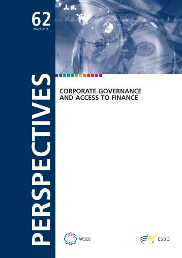 Corporate Governance and Access to Finance - ESBG