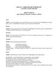 Sosyal Yardım İşleri Çalışma Yönetmeliği - Kartal Belediyesi