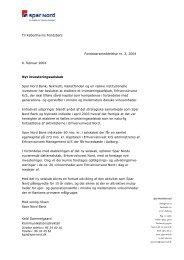 Nyt investeringsselskab (PDF) - Spar Nord