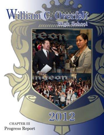 Chapter III Progress Report - William C. Overfelt High School