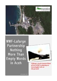 WWF-Lafarge Partnership Nothing More Than Empty Words in Aceh