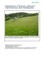 Skjotselsplan for slåttemark_Fosshammar 2012 ... - Stjørdal kommune