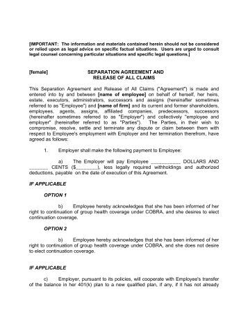 The Healing Separation Agreement Form  Ryan Kennedy