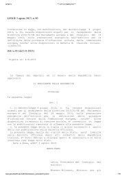Leggi Testo Legge 90/2013 - Sacert