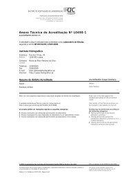 Anexo Técnico de Acreditação Nº L0490-1 - Instituto Hidrográfico
