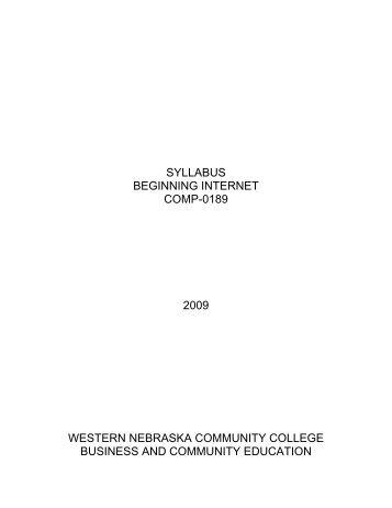 View Syllabus - MY WNCC Portal Login