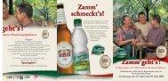 Zamm'geht's! - Kulmbacher Brauerei AG