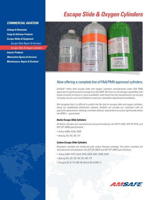 Escape Slide & Oxygen Cylinders - AmSafe