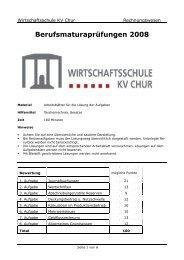 2008 M RW Aufg - Wirtschaftsschule KV Chur
