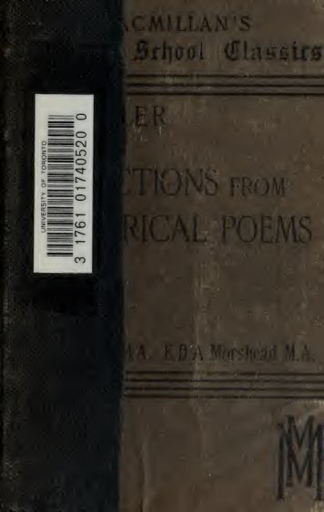 Selections from Lyrical poems;