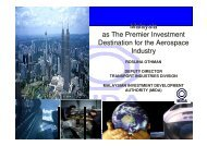 Malaysia as The Premier Investment Destination for ... - BCI Aerospace