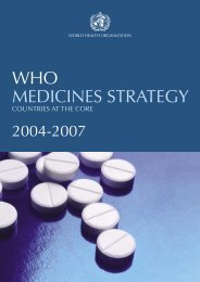 who medicines strategy - libdoc.who.int - World Health Organization