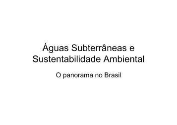 Águas Subterrâneas e Sustentabilidade Ambiental - ABAS