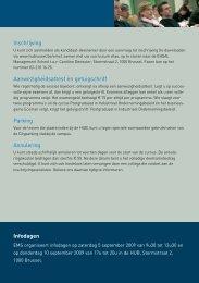 Programma Inschrijving Aanwezigheidsattest en ... - HUBRUSSEL.net